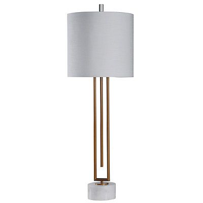 Gold Triple Pole Steel Table Lamp In 2019 Table Lamp Wood