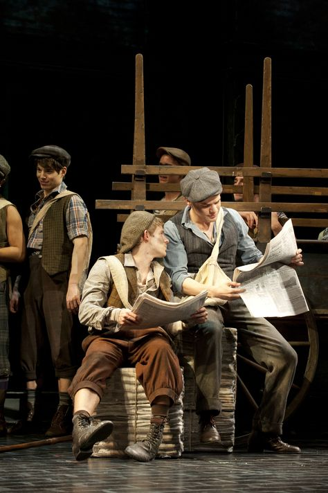Newsies - Jack and Crutchie Musical Theatre Broadway, Broadway Shows, Musicals Broadway, Harvey Fierstein, Theatre Problems, Theatre Quotes, Ramin Karimloo, Theatre Nerds, Dear Evan Hansen