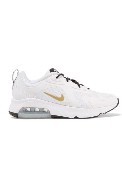 Nike Air Max 200 leather trimmed felt and mesh sneakers