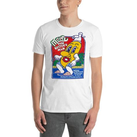 Seltzer Cartoon T-Shirt - White / 3XL