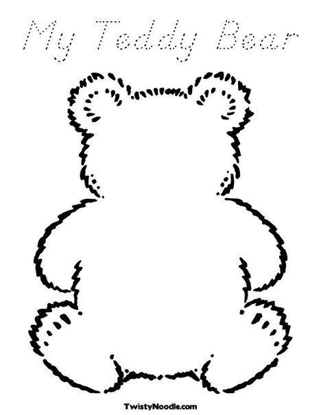 TEDDY BEAR PICNIC: My Teddy Bear Coloring Page