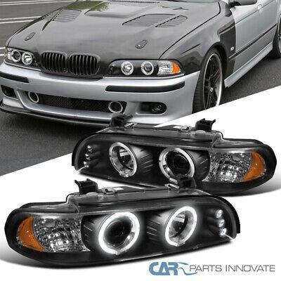 Ad Ebay For Bmw 96 03 E39 525i 528i 530i Led Halo Projector Headlights Head Lamps Black Projector Headlights Headlamp Black Lamps