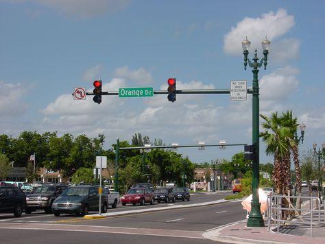 Davie Florida Deco Traffic Standard Decorative Street Lighting Street Light Fountains