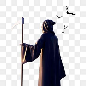 Halloween Grim Reaper Back View 3d Element Halloween Grim Reaper Sickle Png Transparent Clipart Image And Psd File For Free Download Vintage Halloween Posters Grim Reaper Halloween Party Events