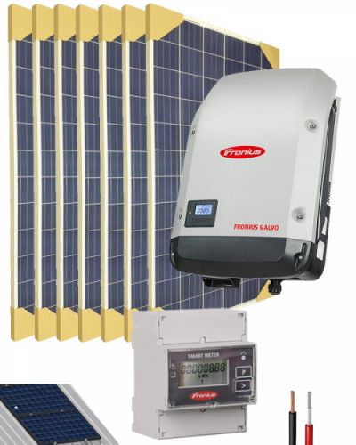Kit Solar Conectado Red 2000w 11200whdia Monofasico Energia Solar Kit Placas Solares Kit Solar