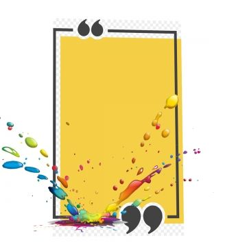 Yellow Frame With Color Droplets Frame Droplets Yellow Background Png Transparent Clipart Image And Psd File For Free Download Yellow Background Colorful Backgrounds Paint Background