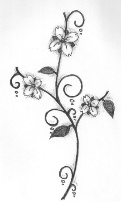 Images Of Rose Pencil Drawing Simple Flower Drawing Pencil Drawings Of Flowers Easy Flower Drawings