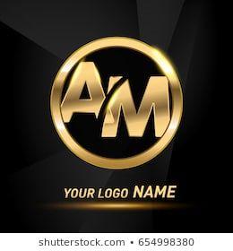 Initial Letter Logo Am Inside Circle Shape Rounded Lowercase Logo