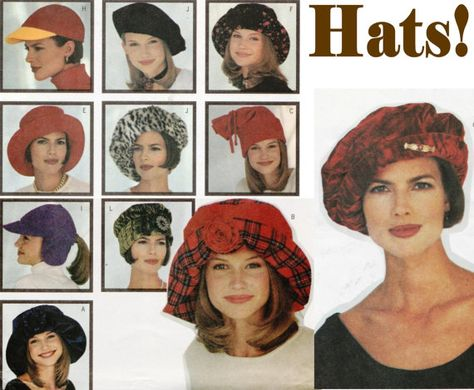 Womens Hats Hat Patterns Butterick 3055 by ThePerfectPattern  16517a27ccf7