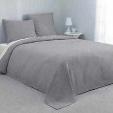 3suisses couvre lit Couvre lit (220 x 240 cm) matelassé Emma Anthracite 3suisses couvre lit