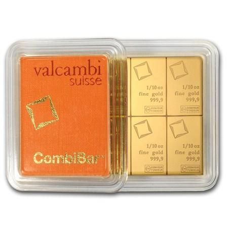10x 1 10 Oz Gold Combibar Valcambi In Assay Gold 10 Things Precious Metals