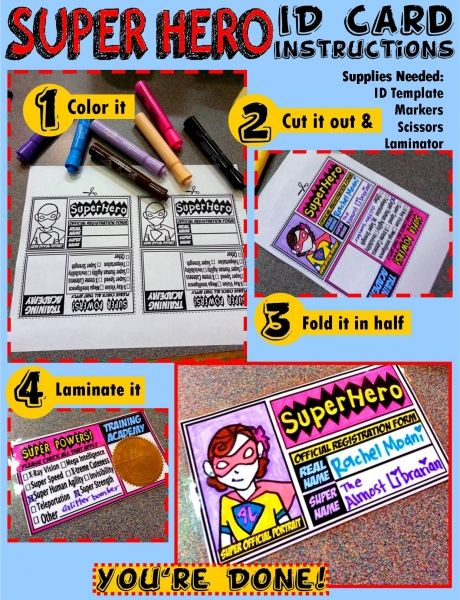 Super Hero ID Card Instructions (Rachel Moani) What is your super - id card template
