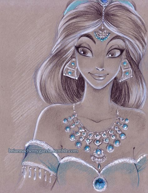 Disney art Jasmine by Brianna Cherry Garcia