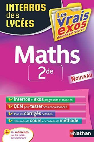 Interros Des Lycees Maths 2de De Erik De Brauwere Https Www Amazon Fr Dp 2091503894 Ref Cm Sw R Pi Dp U X Xy3lcbr5650ah Lycee Listes De Lecture Lecture