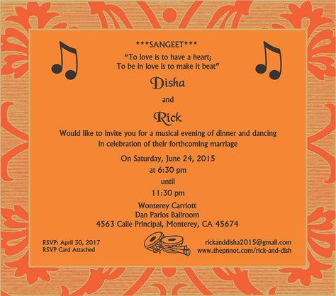 Wedding Invitation Wording For Sangeet Ceremony Sangeet Ceremony - fresh formal invitation letter in hindi