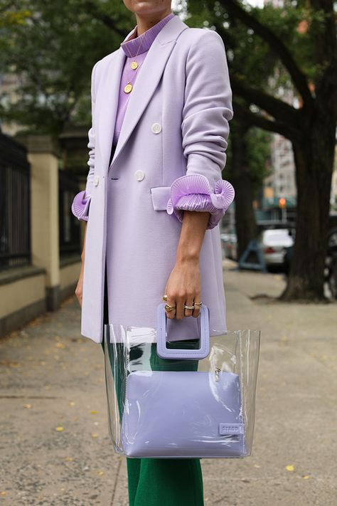 COLLECTION // SUITING Blair Eadie wears a lilac blazer from her Atlantic-Pacific x Halogen collection - sold exclusively at Nordstrom // Click through for more suiting inspiration and blazer outfits on Atlantic-Pacific