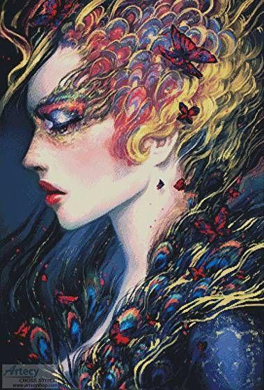 Kingdom Carousel Queen - cross stitch pattern designed by Tereena Clarke. Category: Fantasy.