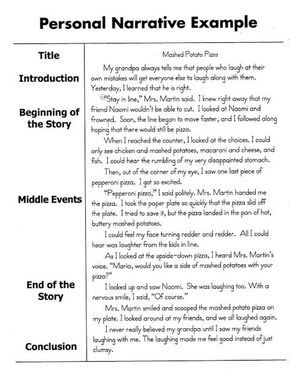 personal narrative essay sample  english  personal