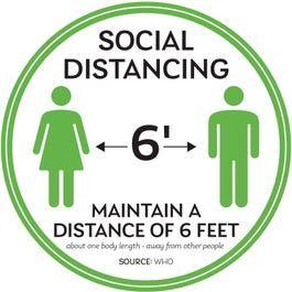 Social Distancing Floor Decals Floor Decal Floor Stickers Social Distance