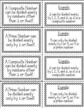 Identifying Composite And Prime Numbers Prime And Composite Numbers Interactive Math Journals Prime Numbers