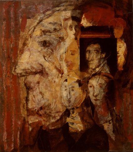Raúl Óscar Martínez, Recuerdos, 1996, mixta sobre lino, 122.3 x 112, colección Famsa