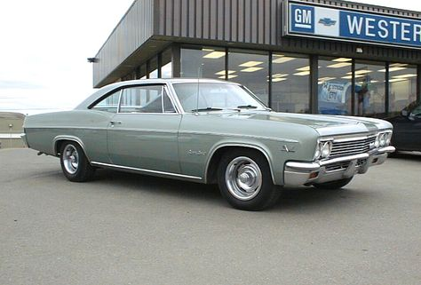 1966 impala.. 396, four speed, bench seat, transister ignition, bench seat, 340 hp.  Very rare with bench seat, no a/c...fast.  Held record at Beeline Dragway in S/S class AHRA