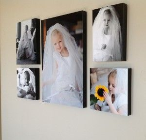 wall decor ideas for little girl's room! So cute in her mommy's wedding dress!
