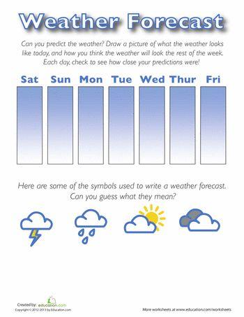 Weather Forecast For Kids Worksheet Education Com Weather Forecast For Kids Weather Report For Kids Weather Lessons Weather worksheets for second grade