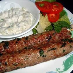 Lamb Kofta Kebabs, the kids love these. Serve with wedges.