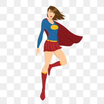 Female Superhero Hovering In The Air Superhero Female Woman Png And Vector With Transparent Background For Free Download Black White Sketches Female Superhero Superhero