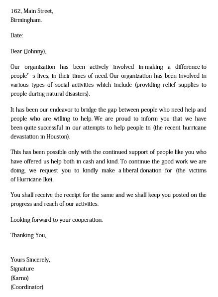 Donation Request Letter And How To Make Best Of It Donation Request Letters Donation Letter Donation Letter Template