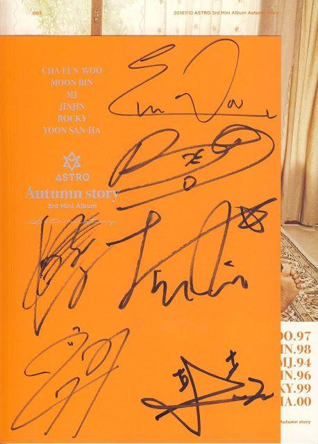kpop scans: Astro - Autumn Story orange version real autographs | my