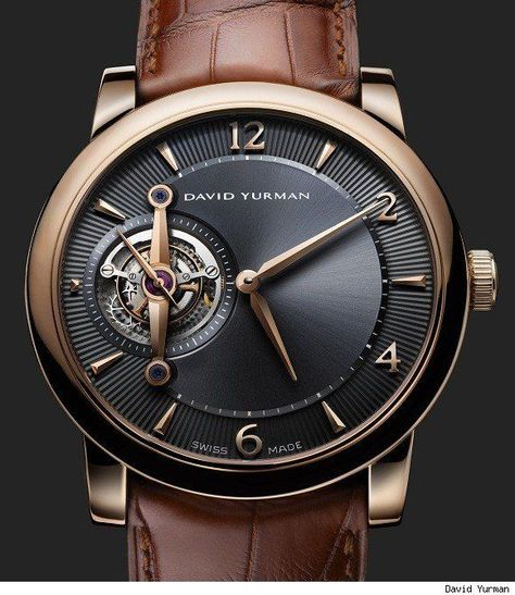 For the cheapest Mens Fashion, come to kpopcity.net!! David Yurman Ancestrale Tourbillon Watch. This is gorgeous.