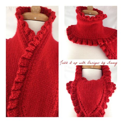Rich Harvest Red Ladies Ruffle Edge Hand By Jazzitupwithdesigns