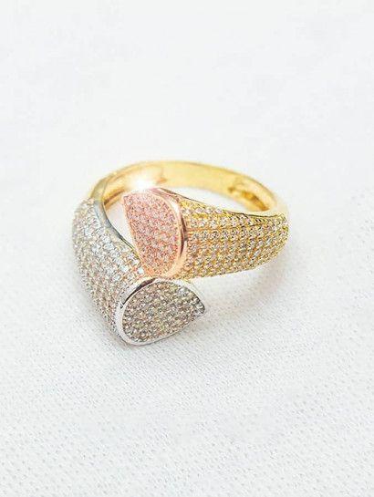 خاتم ذهب عيار 18 خاتم حريمى ذهب خصم 10 على المصنعية Druzy Ring Jewelry Rings