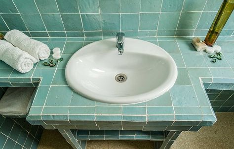 Marokkaanse Tegels Toilet : Groene marokkaanse tegels badkamer homeslice bathroom