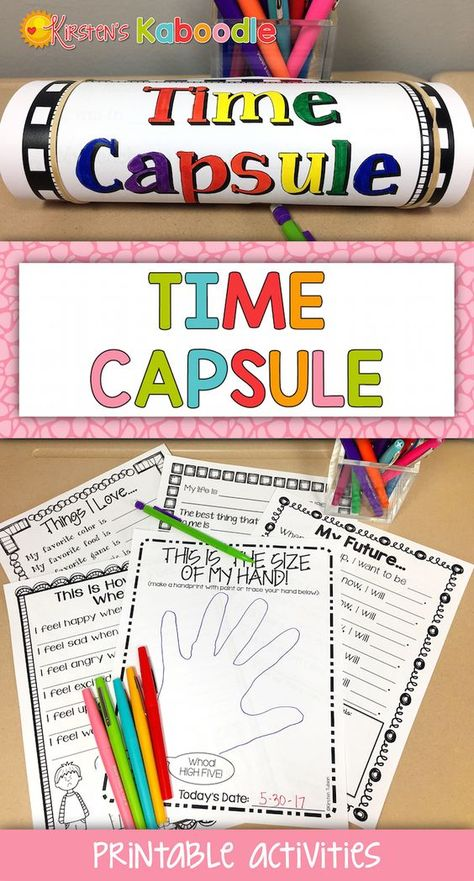 Time Capsule Writing Project | First Day Last Day Time Capsule Digital Option