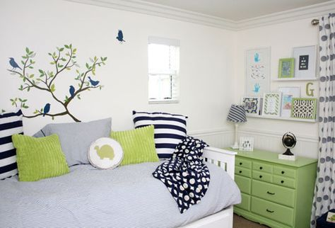 Green & Navy Big Boy Room
