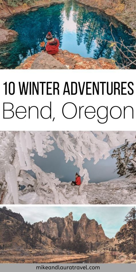Bend, Oregon Winter Adventures Have a blast this winter exploring Bend, Oregon. 10 amazing winter adventures in Central Oregon to add to your Pacific Northwest bucket list. Oregon Road Trip, Oregon Travel, Travel Usa, Travel Portland, Travel Tips, Central Oregon, Portland Oregon, Bend, Pacific Northwest