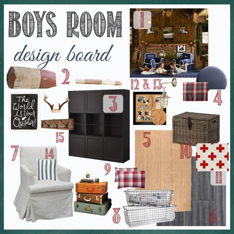 Boy's Room Design Board–the plan for Gray's room