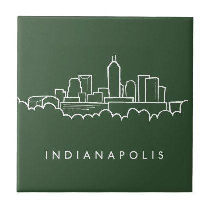 Indianapolis Indiana Skyline Ceramic Tile Zazzle Com Ceramic Tiles Indianapolis Indiana