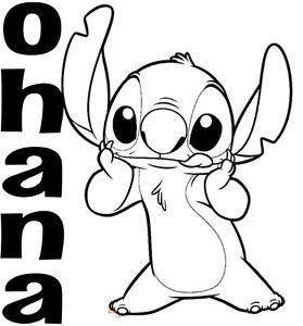 Stitch Ohana Stitch Coloring Pages Stitch Drawing Disney