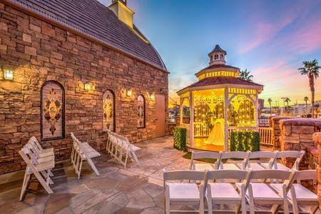 The Terrace Gazebo An Outdoor Wedding Site Las Vegas Weddings Las Vegas Elopement Gazebo Wedding