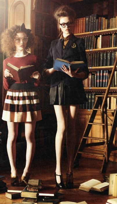 "ohiocityfate: "" the school girl preppy look. the outfit on the right has an Abercrombie & Fitch influnce being sexy and slim-fit."