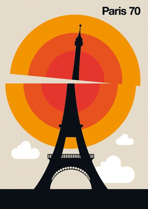 Cities, design and illustration by Bo Lundberg, via Behance