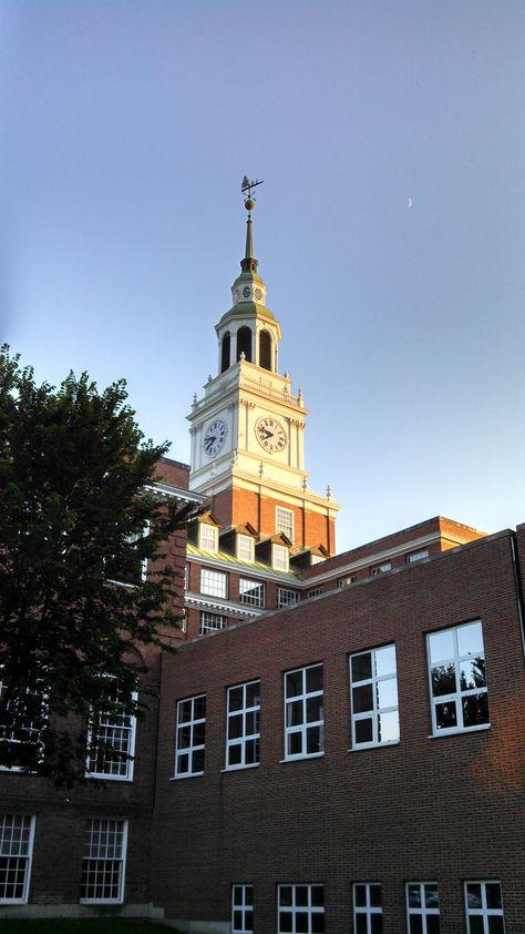 Photo Dartmouth College Church,Christ,universities,flag,Hanover,New Hampshire,NH,1900