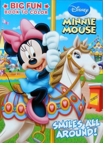 Disney Smiles All Around Minnie Mouse 96 Page Coloring Book By 720 Junior Clubhouse Features Disn