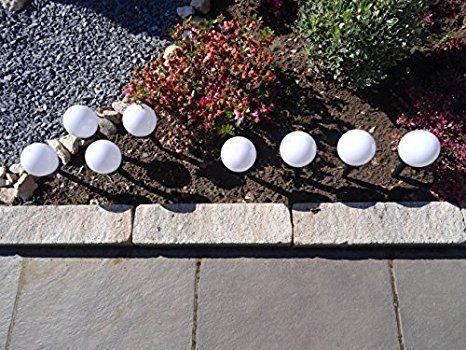 Solarlampe Solarleuchte mit Kugel LED 3-farbig 80 cm Kunststoff Edelstahl Garten