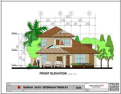 pelan rumah modern 2 tingkat - rumah minimalis (with
