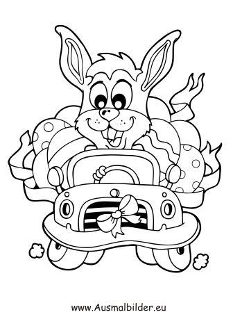 Ausmalbild Osterhase Im Auto Zum Ausmalen Ausmalbilder Malvorlagen Ostern Osterhase Kindergarten Malvorlage Hase Auto Zum Ausmalen Osterhase
